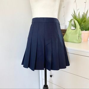 American Apparel Tennis Skirt Size Large Navy Blue